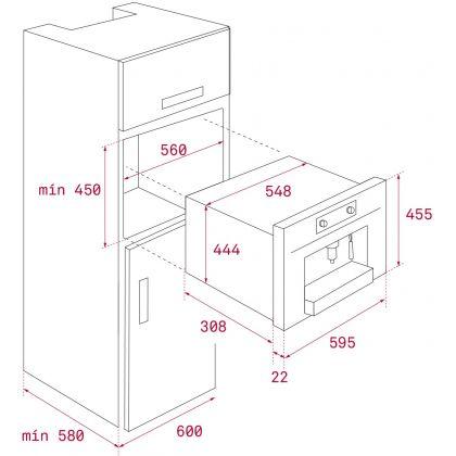 Espressor incorporabil cu capsule Teka CLC 835 MC, 5 tipuri capsule, TFT, 19 bar, sertar depozitare