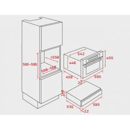 Sertar termic incorporabil Teka CP 15 GS, negru, 6 farfurii