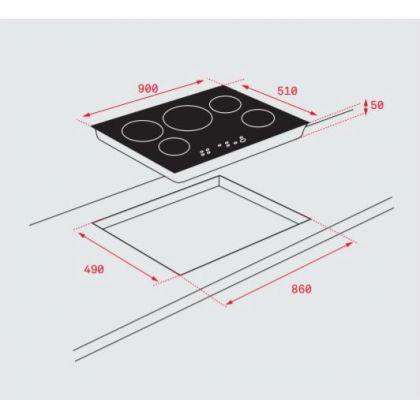 Plita incorporabila inductie Teka IRF 9430, 90 cm, Flex Zone, Slider Touch Control