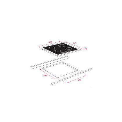 Plita incorporabila inductie Teka IT 6450 Iknob, 60 cm, Syncro, iQuick boiling