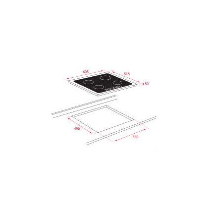 Plita incorporabila inductie Teka IT 6420, 60 cm, zona Space, Power Plus