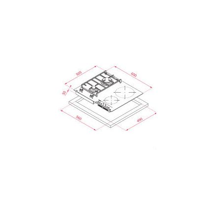 Plita incorporabila mixta Teka IG 620 2G AI AL CI, 60 cm, inductie si gaz