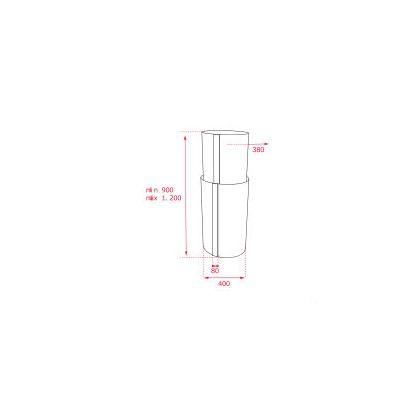 Hota insula cilindrica Teka CC 485, 40 cm, inox