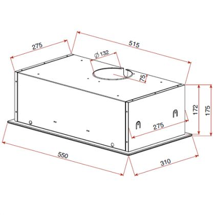 Hota integrata Teka GFG 2 Black, 55 cm