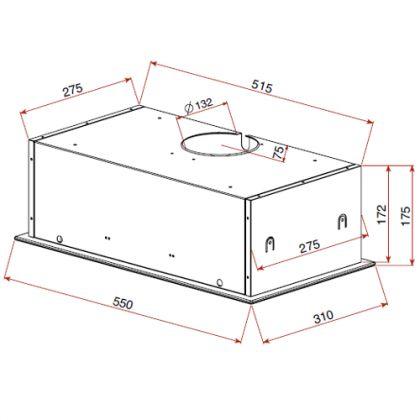 Hota integrata Teka GFG 2 White, 55 cm