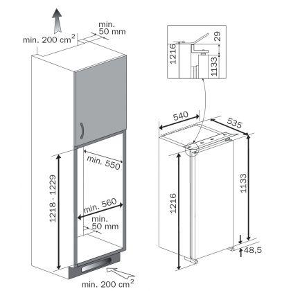 Frigider incorporabil Teka TKI3 215, A++, compartiment congelator