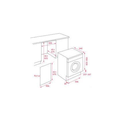 Masina de spalat rufe incorporabila Teka LI3 1470 E, 7 kg, A+++
