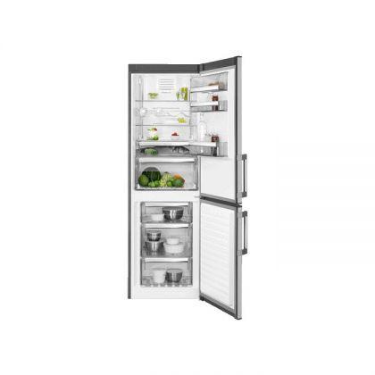 Combina frigorifica No Frost AEG RCB63326OX, 60 cm, inox, A++, afisaj LCD