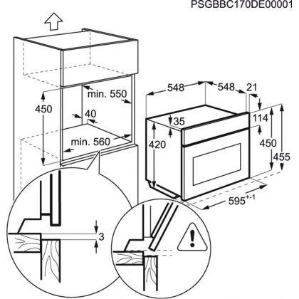 Congelator rapid incorporabil Electrolux EAT1AX, Blast chiller, 3 rafturi, inox