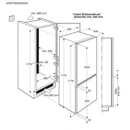 Combina frigorifica incorporabila No Frost Electrolux ENN2851AOW, A+