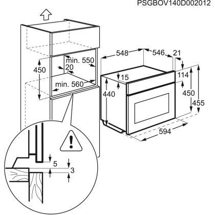 Cuptor incorporabil electric compact Electrolux EVY5841BOX, 90 retete predefinite, 20 functii