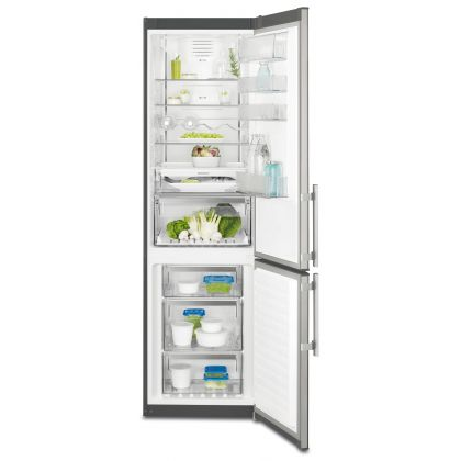 Combina frigorifica No Frost Electrolux EN3790MOX, inox, A++