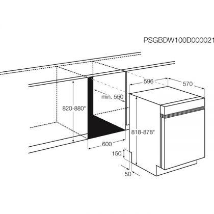 Masina de spalat vase partial incorporabila Electrolux ESI5205LOX, 60 cm, 5 programe