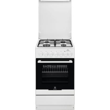 Aragaz mixt Electrolux EKK52950OW, 50 cm, alb, Plus Steam
