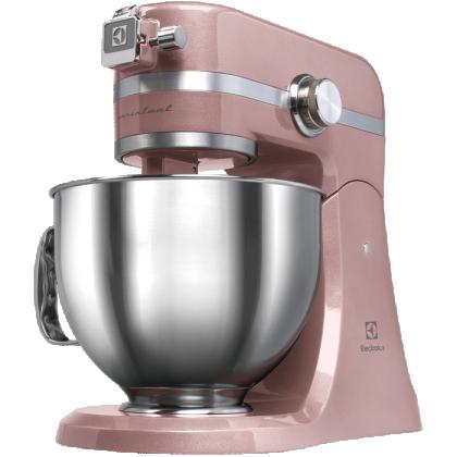 Mixer cu bol Electrolux Assistent Kitchen Machine EKM4610, 1000 W, roz sidefiu
