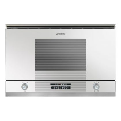 Cuptor incorporabil compact cu microunde Smeg Linea MP122B, alb 850 W, 6 functii