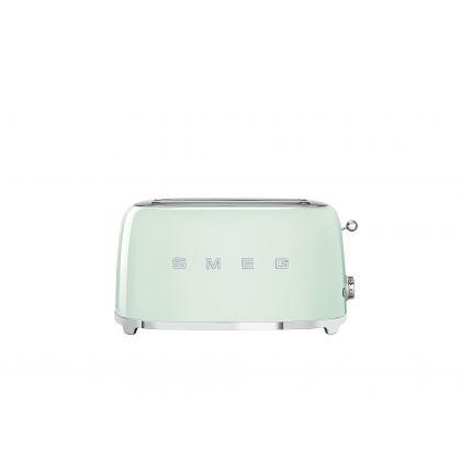 Prajitor de paine Smeg TSF02PGEU, 1500 W, verde, retro, 4 felii
