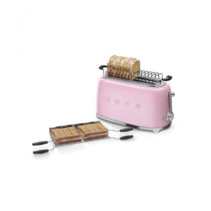 Prajitor de paine Smeg TSF02PKEU, 1500 W, roz, retro, 4 felii