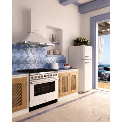 Prajitor de paine Smeg TSF01WHEU, 950 W, alb, retro