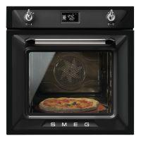 Cuptor incorporabil electric Smeg Victoria SF6922NPZE1, negru, Vapor Clean, functie pizza