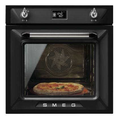 Cuptor incorporabil electric Smeg Victoria SF6922NPZE, negru, Vapor Clean, functie pizza