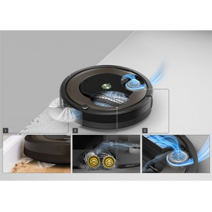 Aspirator inteligent Irobot Roomba 896, acumulator Li-ion, Antitangle, navigatie iAdapt, aplicatie iRobot Home, 150 mp