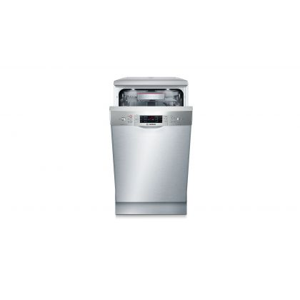 Masina de spalat vase Bosch SPS69T88EU, 45 cm, A+++, 10 seturi, inox, EcoSilence Drive, Zeolith