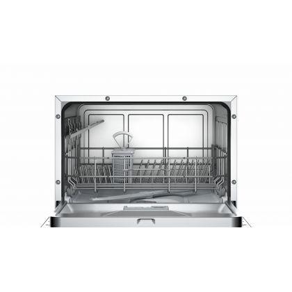 Masina de spalat vase compacta Bosch SKS51E22EU, A+, 6 seturi, alba, EcoSilence Drive, Active Water