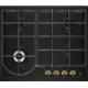 Plita incorporabila gaz Electrolux EGH6343ROR, 60 cm, retro, negru