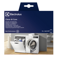 Solutie anticalcar si degresant pentru masini de spalat vase si rufe Electrolux E6WMDW12, 12 buc