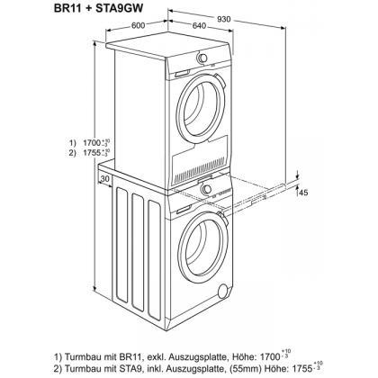Kit de suprapunere masina de spalat rufe si uscator Electrolux STA9GW