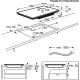 Plita incorporabila inductie AEG IKE84471XB, 77 cm, Flexi Bridge, conectivitate hota, rama inox
