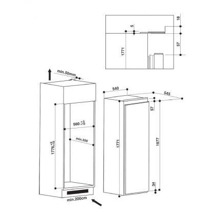 Frigider incorporabil cu o usa Hotpoint BS 1801 AA, A+