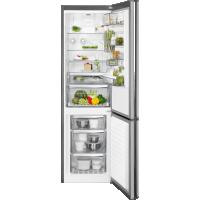 Combina frigorifica No Frost AEG RCB83724MX, 60 cm, inox, CustomFlex, afisaj LCD