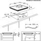 Plita incorporabila inductie Electrolux EIV644, 60 cm, functie punte