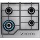 Plita incorporabila gaz Electrolux KGG6436S, 60 cm, gratare fonta, Wok