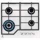 Plita incorporabila vitroceramica pe gaz Electrolux KGG6436W, 60 cm, gratare fonta, Wok, alba