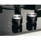Plita incorporabila vitroceramica pe gaz Electrolux KGG6426K, 60 cm, gratare fonta, neagra
