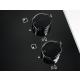 Plita incorporabila vitroceramica pe gaz Electrolux KGG6407K, 60 cm, gratare fonta, neagra
