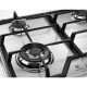 Plita incorporabila pe gaz Electrolux KGS6436SX, 60 cm, gratare fonta, wok, inox