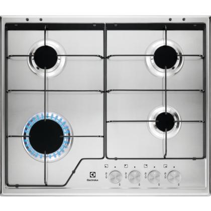 Plita incorporabila pe gaz Electrolux KGS6424SX, 60 cm, inox