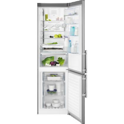 Combina frigorifica No Frost Electrolux EN3790MKX, 60 cm, afisaj LCD, inox