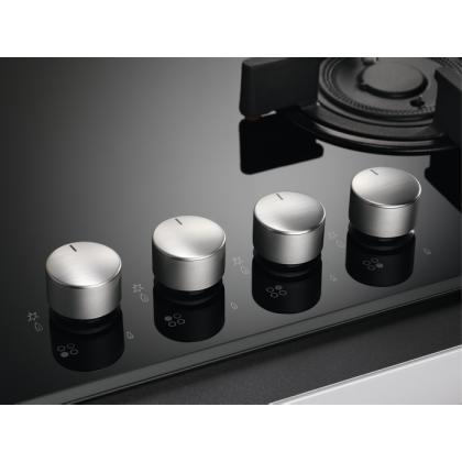 Plita incorporabila vitroceramica pe gaz AEG HKB64440NB, 60 cm, neagra