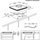 Plita incorporabila inductie pe toata suprafata AEG IAE64843FB, 60 cm, ecran TFT, functie punte, SenseFry