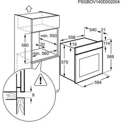 Cuptor incorporabil electric Zanussi ZOB442XU, 60 cm, inox