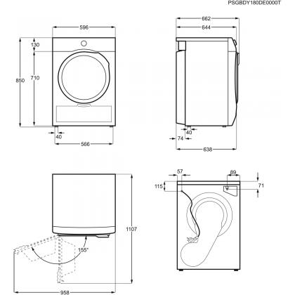 Uscator de rufe Electrolux PerfectCare800 EW8H259ST, 9 kg, pompa de caldura, A++, inverter