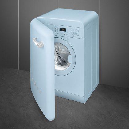 Masina de spalat rufe retro Smeg LBB14PB-2, albastru, 7 kg, A++, 15 programe