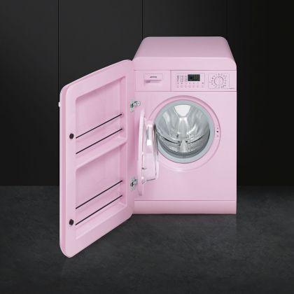 Masina de spalat rufe retro Smeg LBB14PK-2, roz, 7 kg, A++, 15 programe