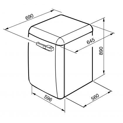 Masina de spalat rufe retro Smeg LBB14WH-2, alba, 7 kg, A++, 15 programe