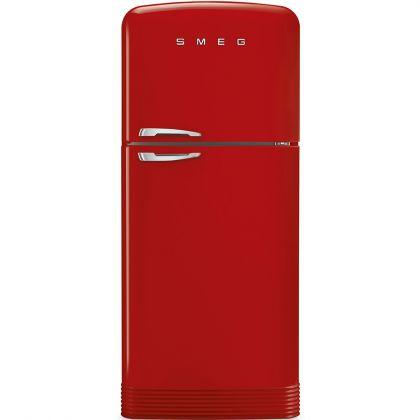 Frigider cu 2 usi No Frost Smeg FAB50RRD, retro, rosu, A++, 80 cm latime